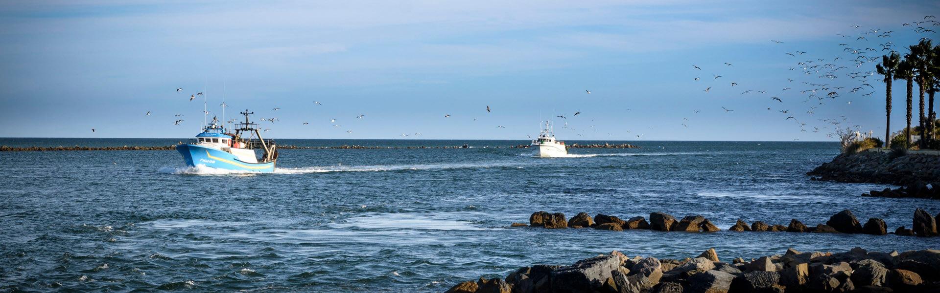 Barcos en Punta del Moral